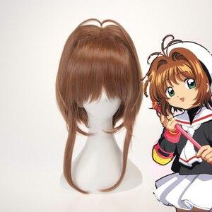 Anime Cardcaptor Sakura Cosplay Wigs Sakura Kinomoto Cosplay Wig Synthetic Wig Hair Halloween Party Women Cosplay Wig