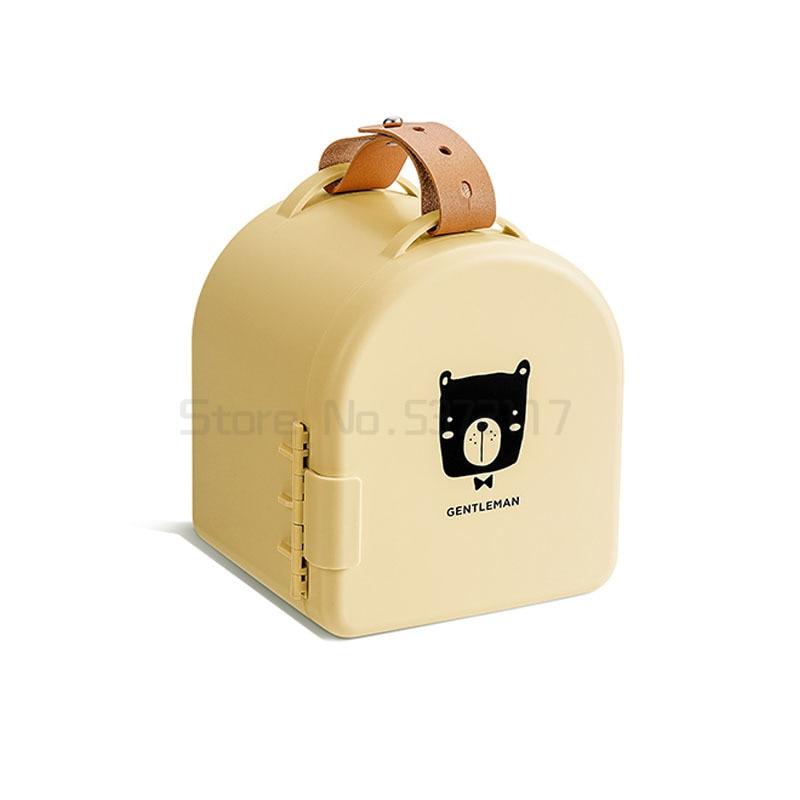 الأطفال لعبة صندوق تخزين المحمولة الصغيرة ليغو صندوق تخزين صندوق الفرز المنزلية سلة التخزين