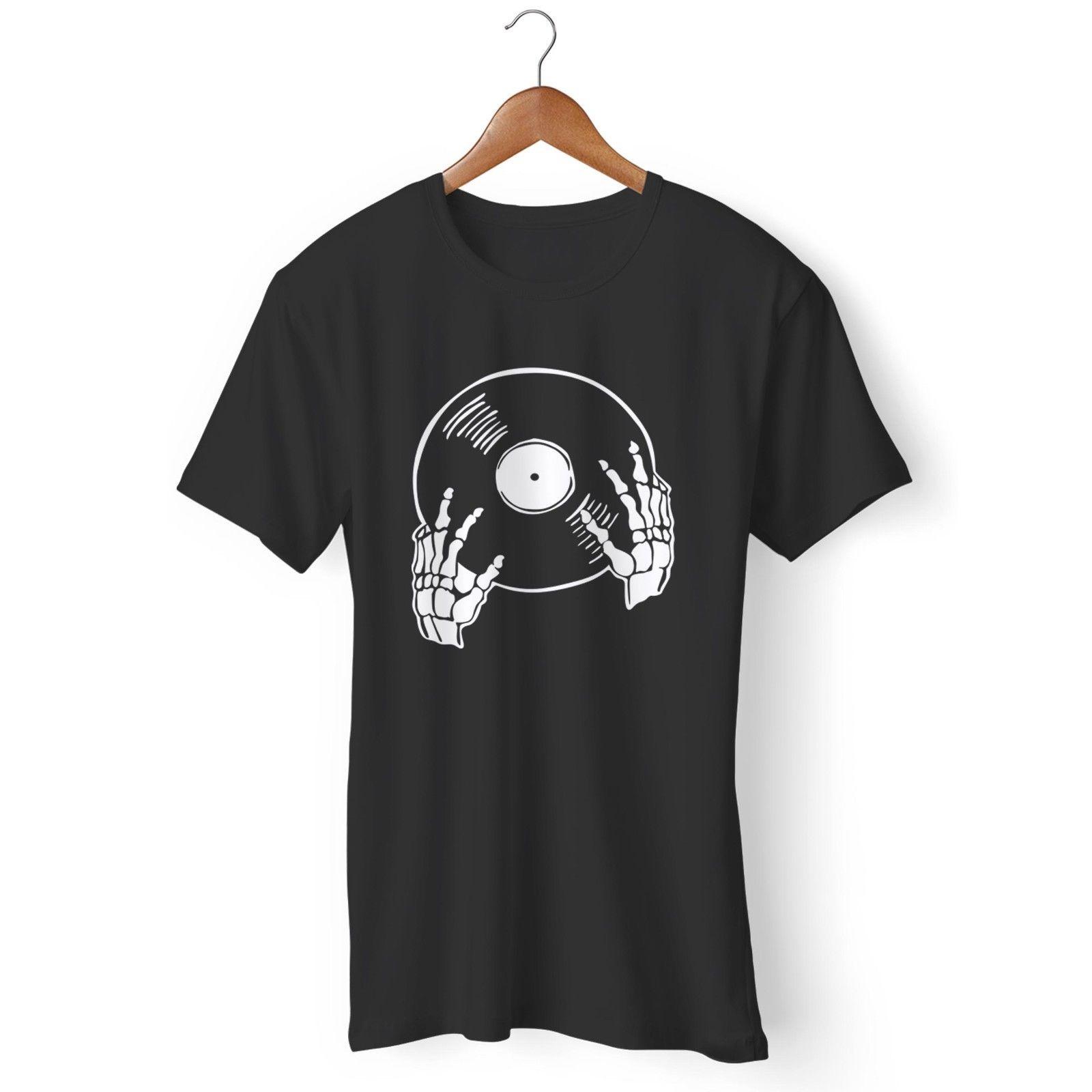 Виниловая пластинка, виниловый коллектор для влюбленных, скелет, футболка для мужчин и женщин, гордость футболки с изображением различных с...
