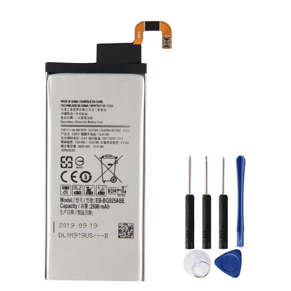 Original Repalcement Phone Battery EB-BG925ABE EB-BG925ABA For Samsung GALAXY S6 Edge G9250 SM-G925l G925F G925L G925K 2600mAh