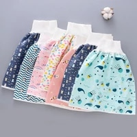 baby toddler training diaper shorts waterproof and leak proof urinary cotton washable diaper high waist diaper shorts for kids