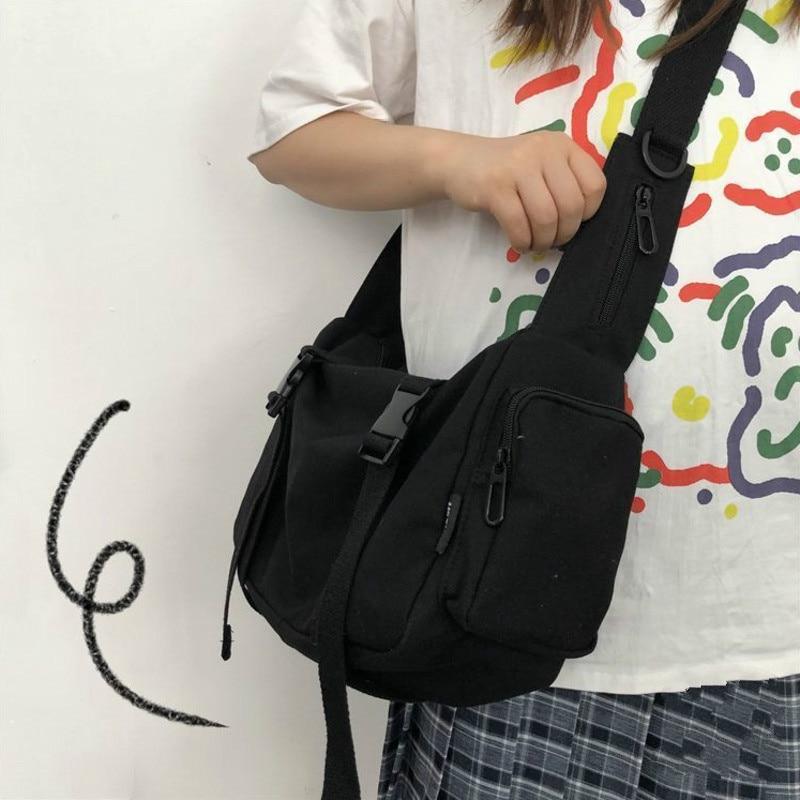 Canvas Work Messenger Bag Ladies Large Capacity Shoulder Bag Women's Versatile Large Capacity Diagonal Cross Bag Холщовая Сумка