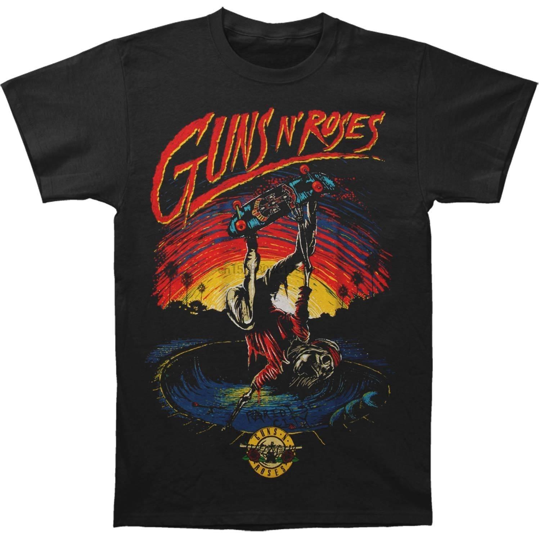 Guns N Roses de Skate para hombre Camiseta Tee BlackHiHop corto T camisa 2018 nueva marca