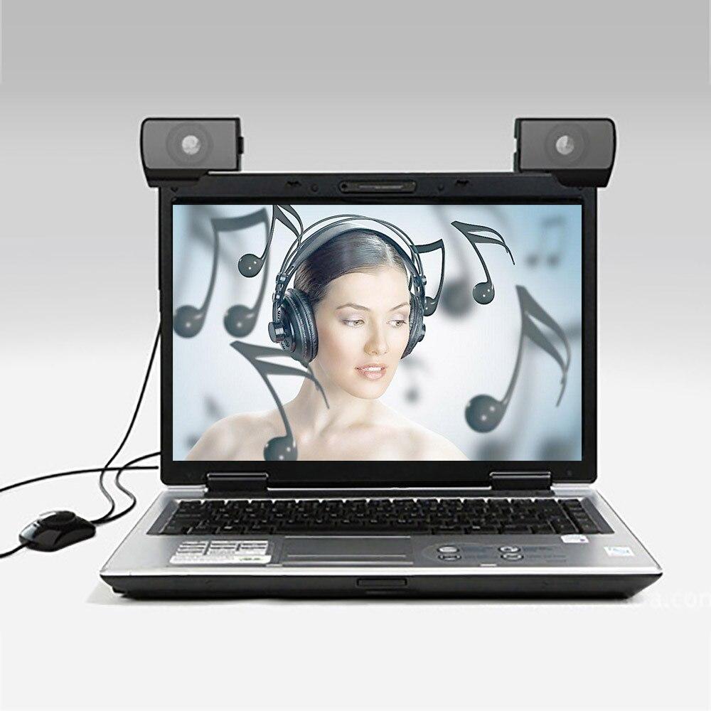 Boîte de son nouveau 1 paire de Mini Portable USB multimédia ordinateur Portable Audio sondeur haut-parleur Orateur plus récent