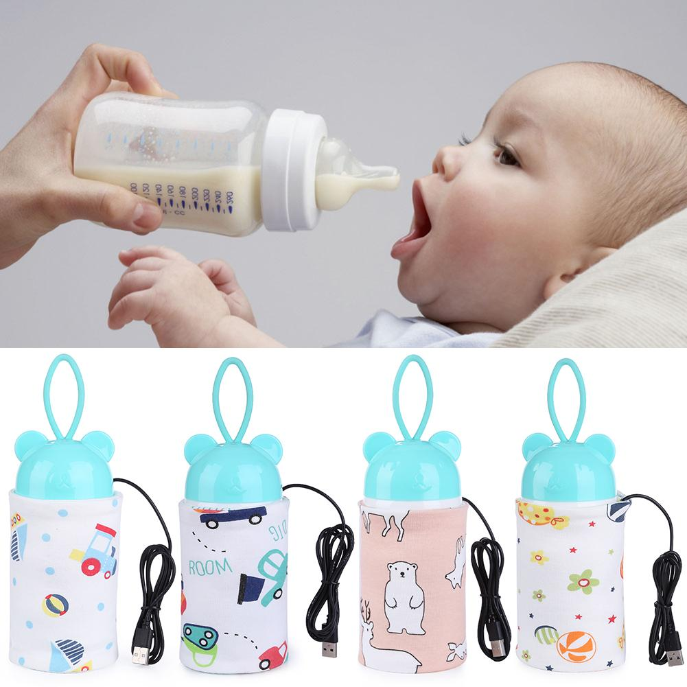 USB Milk Warmer Insulated Bag Portable Travel Cup Warmer Baby Nursing Bottle Cover Warmer Heater Bag Feeding Bottle Bags