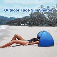 portable outdoor camping beach face tent umbrellas small awning mini head tent lightweight folding uv protection sun shelter