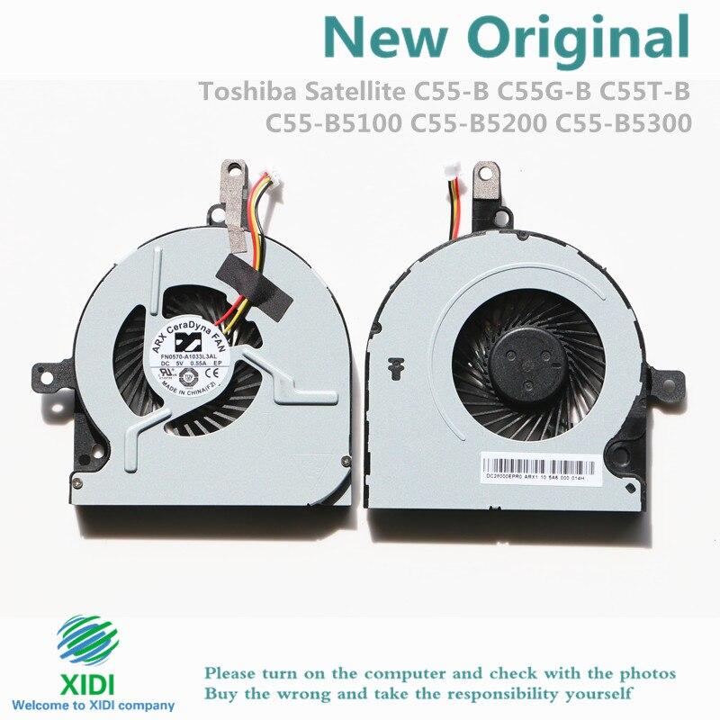 Nuevo DC28000EPR0 para Toshiba Satellite C55-B C55G-B C55T-B C55-B5100 C55-B5200 C55-B5300 FN0570-A1033L3AL 5V 0.55A 3PIN ventilador de la CPU