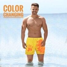 Farbe-ändern Strand Shorts Männer Quick Dry Bademode Strand Hosen Warme Farbe Verfärbung Shorts Schwimmen Surfen Board Shorts