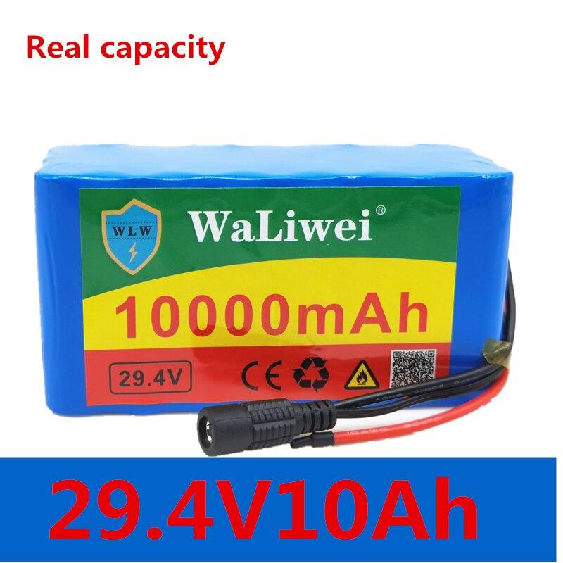 24v 10Ah 7S3P 18650 バッテリー 29.4 v 10000mah 250 1000w bms保護電動自転車原付/電気/リチウムイオンバッテリーパック