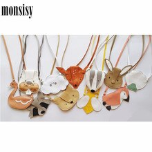 Monsisy Animal Coin Purse Handbag Boy Girl Mini Crossbody Bag Cartoon Children Small Change Pouch Baby Coin Money Bag Kid Gift