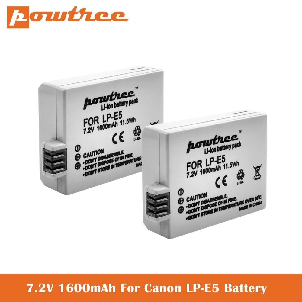 7,2 V LP-E5 de 1600mAh de la batería para Canon EOS Rebel XS rebelde T1i rebelde XSi... 1000D... 500D... 450D beso X3 beso X2 beso F LPE5