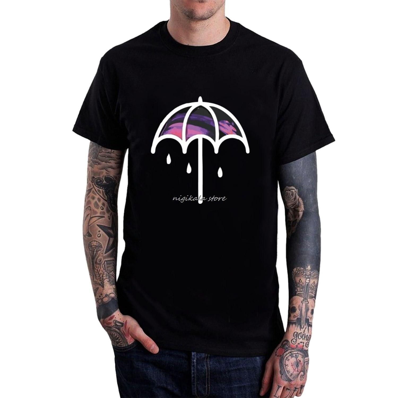 Camiseta para hombre, tráeme el horizonte, paraguas, camisetas negras de manga corta, diferentes colores, camiseta de amantes de los tatuajes bonita de alta calidad