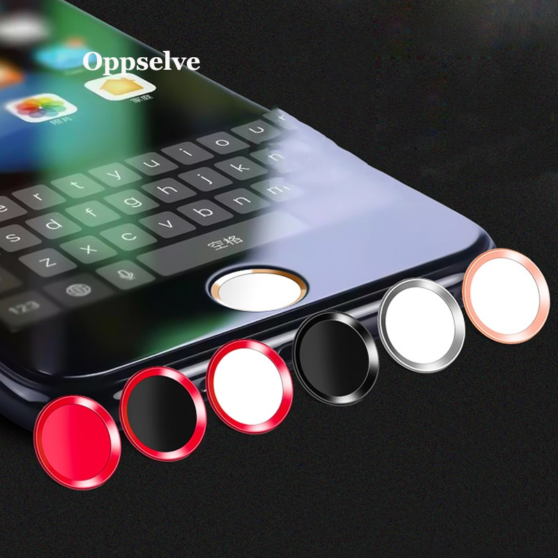 Soporte de huella digital Ultra delgado Touch ID Metal botón de inicio pegatina para iPhone 7 8 7PLUS 6 6S 6PLUS 5 S C SE desbloquea tecla táctil 2 piezas