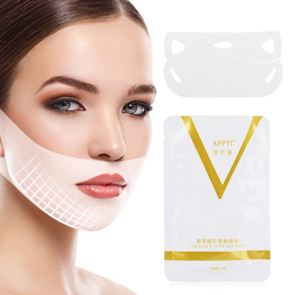 FashionV Face Mask Reduce Weight Facial Care Beauty Health White Replenish Water Antiaging Face Lift