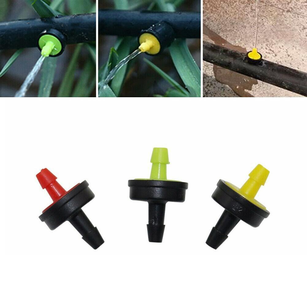 10pcs Flow 10L 20L 30L Pressure Compensating Emitter Self-cleaning Durable Drip Irrigation Water Regulator Pipe Hose PC Dripper
