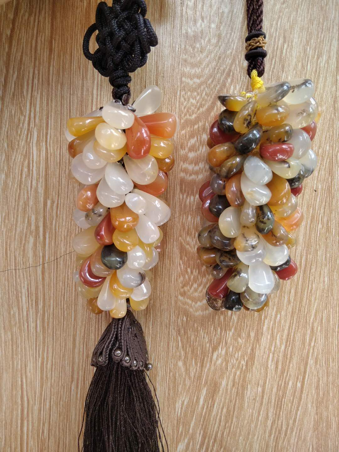 Huanglong jade car chain Wrapping chain gift birthday present lovers gift Natural stone Items with Chinese characteristics
