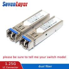 SFP 송수신기 SFP 모듈 LC 커넥터 1310nm/1310nm WDM 스위치 듀얼 파이버 모듈 DDM 기능 otdr mikrotik와 호환 가능