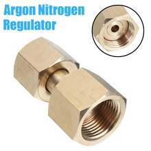 Durable Metal Adaptor CGA-320 to CGA-580 CO2 Cylinder to Argon Nitrogen Regulator Converts Brass with Washers
