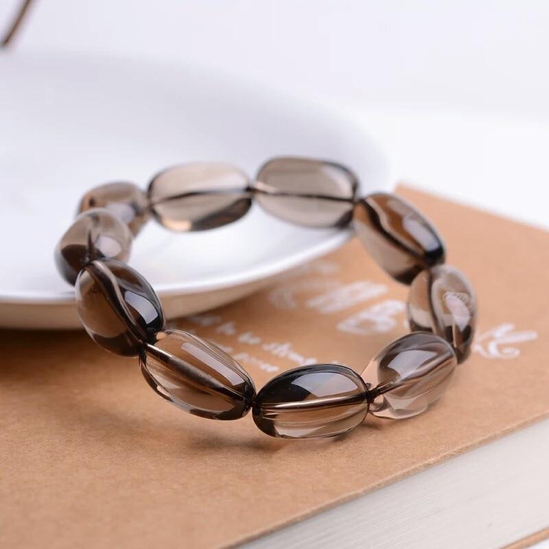 Pulsera de cristal de agua del té Natural para hombres y mujeres con irregulares granos de citrino con una sola mano cuentas adornos de cristal