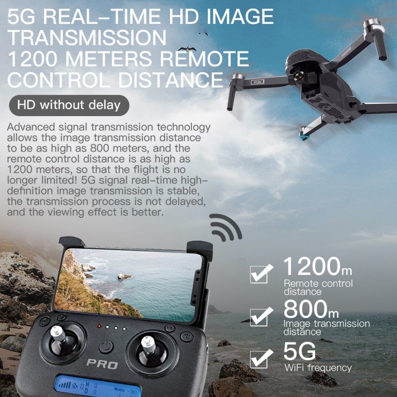 ZLL SG908 GPS Drone 3-Axis Gimbal 4K Camera 5G Wifi FPV Profesional 1.2KM 50X Brushless RC Helicopter Quadcopter SG906 PRO 2 8