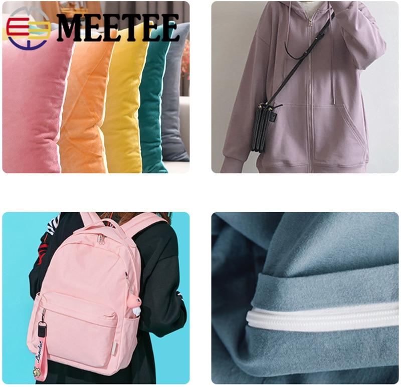 Купить с кэшбэком Meetee 5/10Meters 5# Color Nylon Coded Zipper Coil Code Zip+ Silder Head for Luggage Clothing DIY Textile Sewing Accessories
