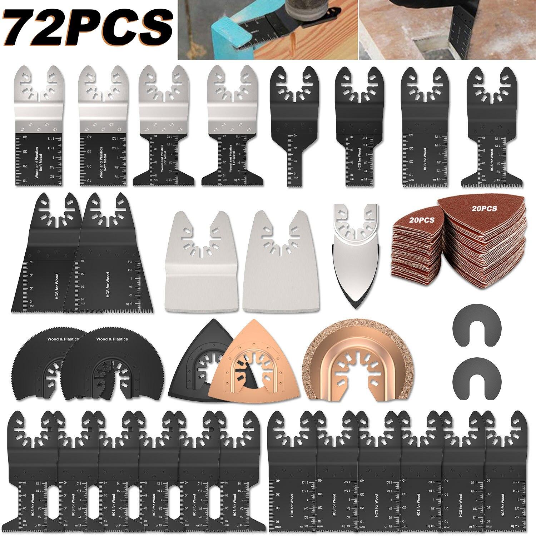 72 قطعة/المجموعة/طقم من شفرات المنشار متعددة المهام المتذبذبة من HCS ملحقات عدة شفرات متعددة المهام تتأرجح للمنزل لـ Fein Multimaster Dewalt