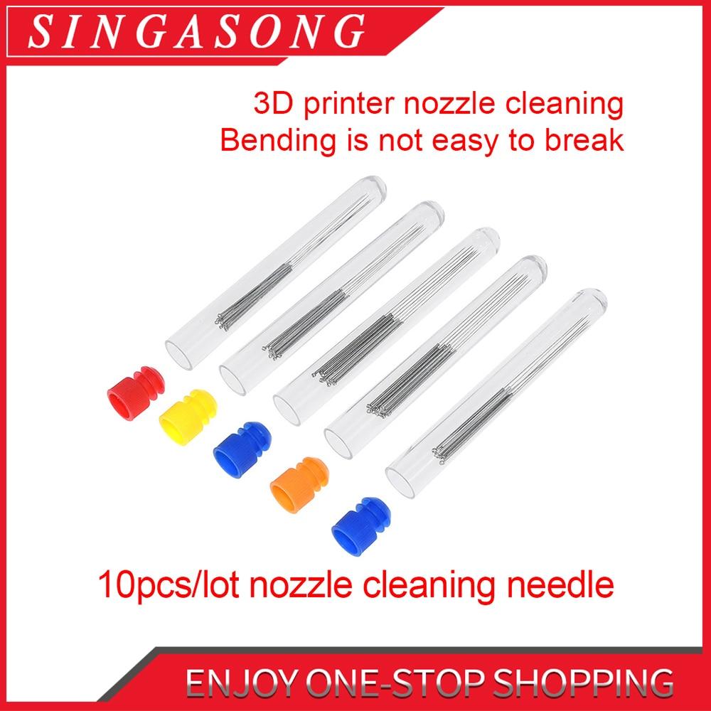 10 unids/set 3D boquilla de acero inoxidable Boquilla DE LIMPIEZA broca de aguja 0,2mm 0,25mm 0,3mm 0,35mm 0,4 accesorios Reprap Ultimake