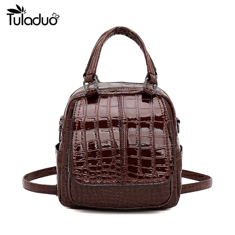 الإناث حقيبة صغيرة على ظهره بولي Leather جلد النساء حقيبة ظهر صغيرة Preppy الكتف حقيبة تسوق سفر الحقائب المدرسية للفتيات