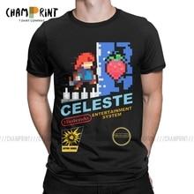 Celeste NES couverture T-Shirts hommes Madeline Pixel jeu vidéo fraise Vintage coton t-shirt col rond t-shirt cadeau hauts