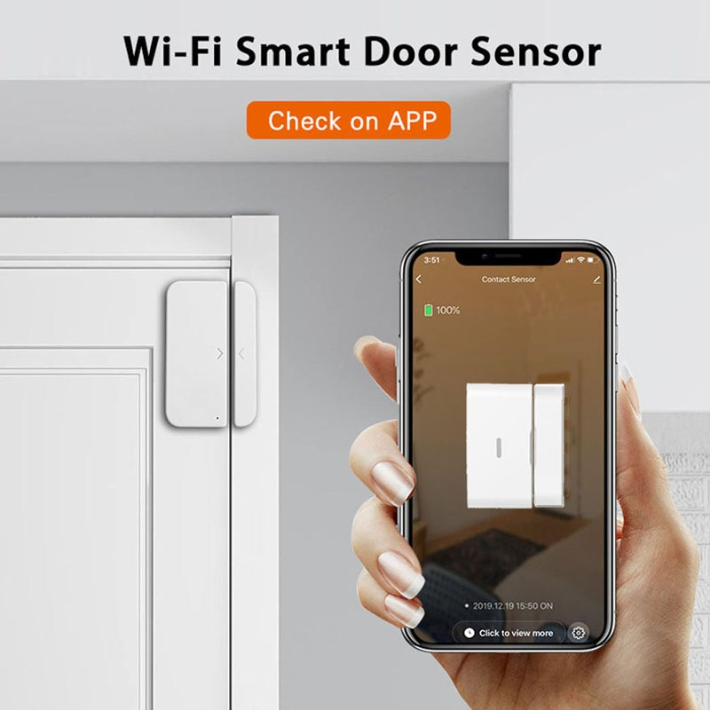 Zigbee3 0 Tuya Smart Door Magnetic Sensor Alarm Is Compatible With Alexa Google Home And Used With Gateway