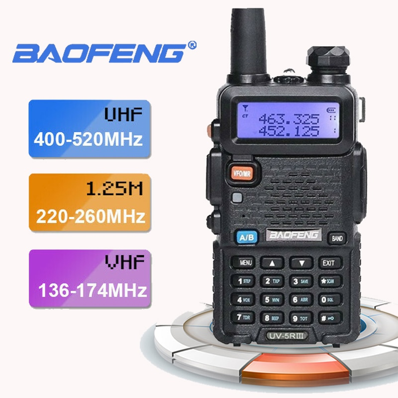 Новинка 2020 Baofeng UV-5R III трехдиапазонная двойная антенна 5 Вт VHF и UHF рация Мобильная приемопередатчик радио Comunicacion Pinganillo Baofeng
