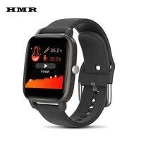 hmr98 smart watch temperature heart rate blood pressure monitoring passometer call message reminder sleep tracker smartwatch