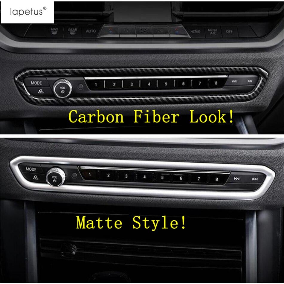 Lapetus Zubehör Fit Für BMW 3 Serie G20 2019 2020 ABS Zentrale Klimaanlage Schalter Control Rahmen Abdeckung Trim Carbon faser
