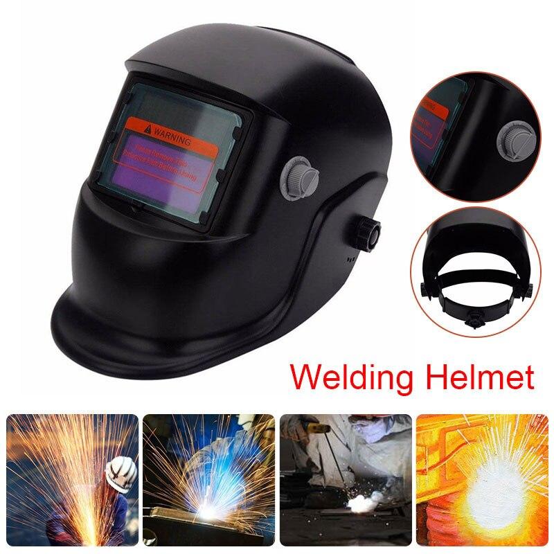 Электрическая Сварочная маска с автоматическим затемнением, на солнечной батарее, шлем, кепка сварщика, регулируемые линзы, аппарат для сварки