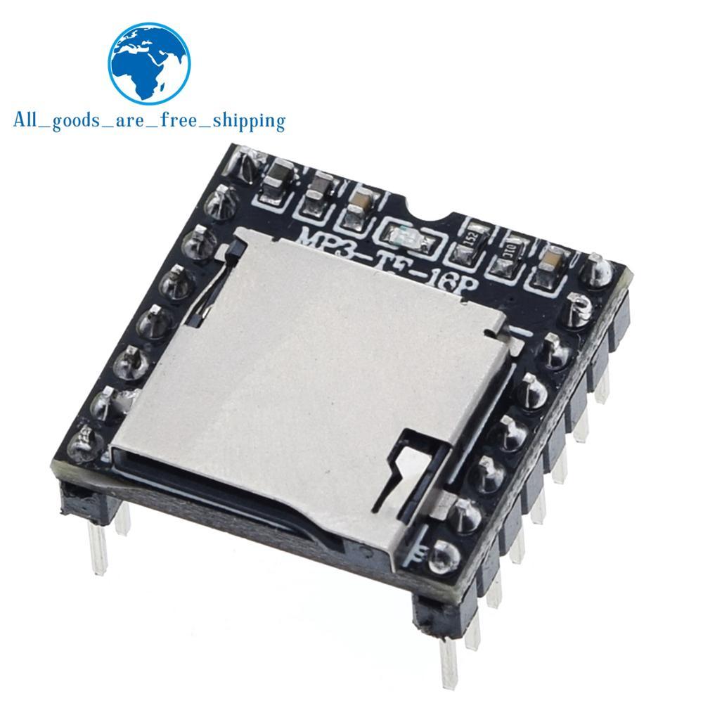 TZT Mini lecteur MP3 Module TF carte U disque Mini lecteur MP3 Audio Module vocal carte pour Arduino DF jouer en gros