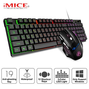 Игровая клавиатура с RGB-подсветкой и бесшумной игровой мышью