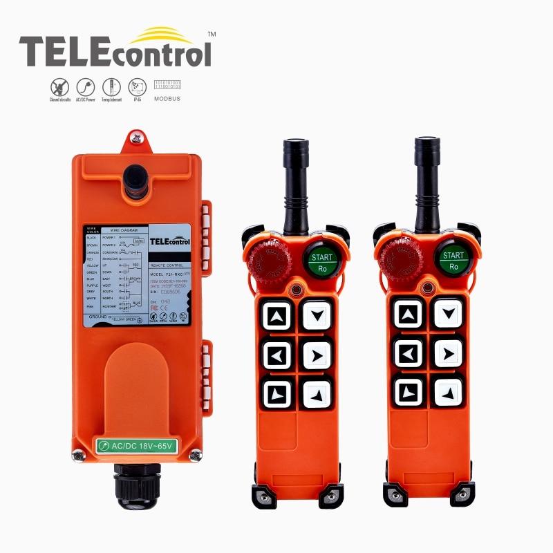 Universal F21-E1 Industrial de Radio inalámbrico de Control remoto para grúa 2 transmisores 1 receptor de grúa