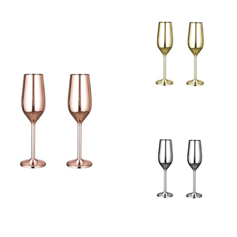 الفولاذ المقاوم للصدأ كأس نبيذ كأس الشمبانيا كوكتيل الزجاج المعدني كأس للنبيذ بار كؤوس مشروبات غير قابلة للكسر
