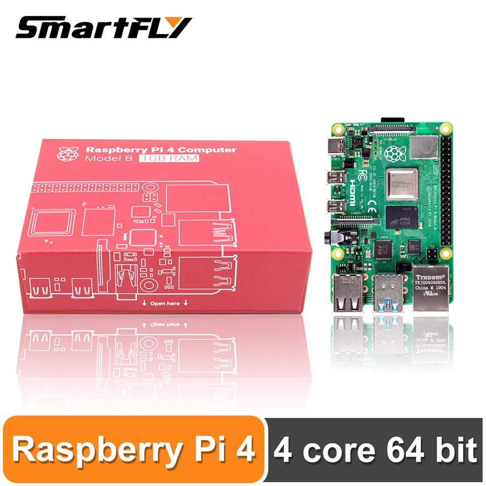 Новейшая модель Raspberry Pi 4 Model B LPDDR4, 2G/4G, четырехъядерный процессор, Cortex-A72 (ARM v8), 64 бит, 1,5 ГГц, двойной выход 4K HDMI, мощность 3B +