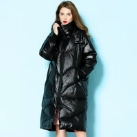 winter new thick warm down jacket hooded women age reduction loose slim down coat hooded women winter nw19c6585