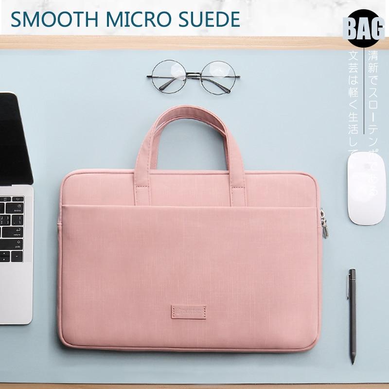 Laptop Bag Case for Macbook Air Pro Retina 13 14 15 Laptop Sleeve 15.6 Notebook Bag For Dell Acer Asus HP Business Women Handbag