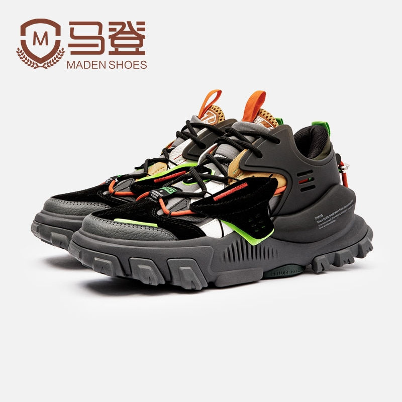 Maden Design Patent Blade Running Shoes Men Elastic Mesh Jogging Shoes Good Quality Cushioning Sneakers Outdoor Male Footwear