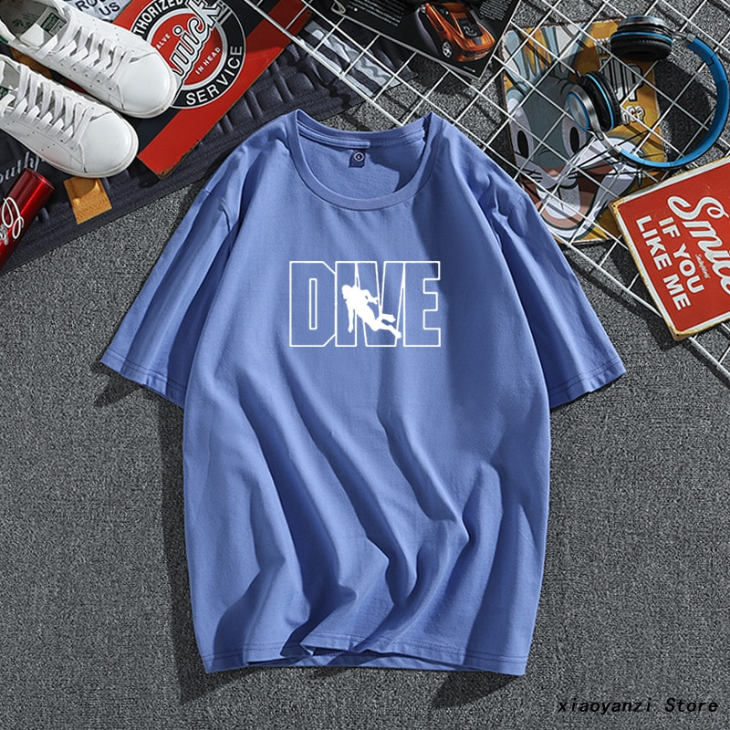 Taucher Design Marke Mann Kleidung Top Fashion Tauchen AQUALUNG Druck männer T Shirt Baumwolle Kurzarm O-ansatz Tauchen T-Shirts