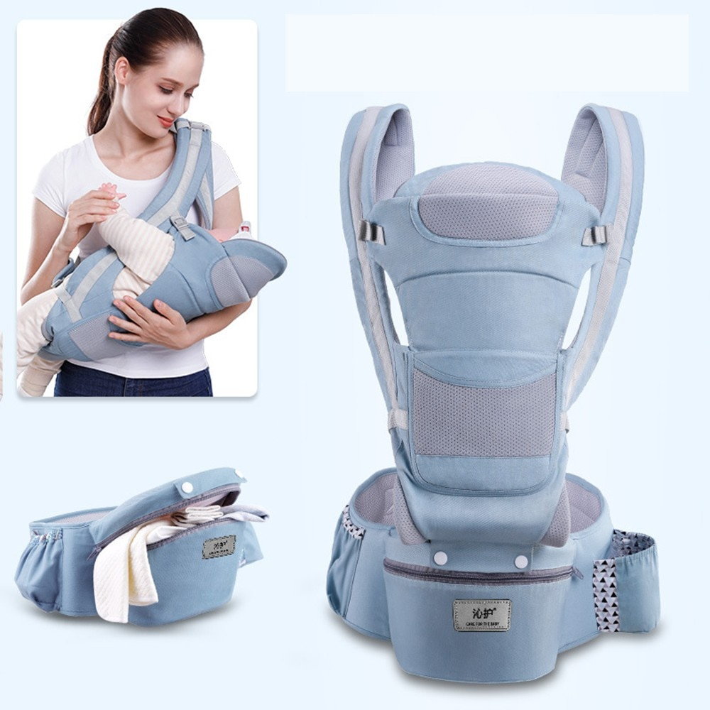3 In 1 Baby Carrier Ergonomic Infant Kid Baby Hipseat Sling Kangaroo Baby Wrap Carrier Large Capacity Storage Bags 0-48 months