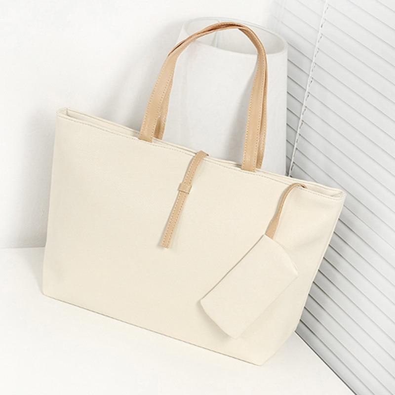 1 Pcs Women Lady Shoulder Bag PU Leather Large Capacity Fashion for Travel Money SER88
