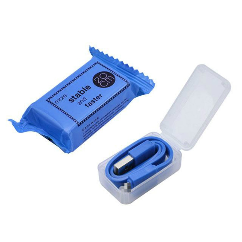 Mini Cable cargador USB corto 20cm línea de carga de Color caramelo plano del teléfono móvil para el cargador del IPhone tipo C cargador Micro cargador