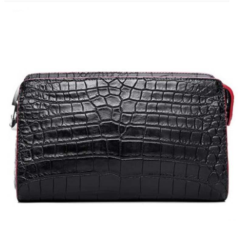 hanlante Genuine Thai crocodile leather hand bag genuine leather wallet large capacity  hand bag leather men clutch bag