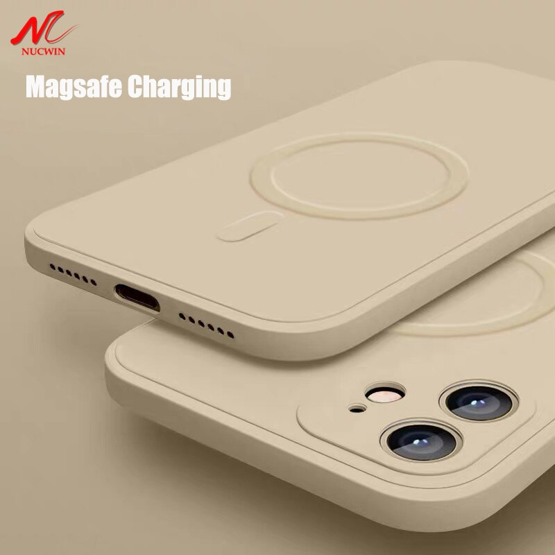 Liquid Silicone Magnetic Case for iPhone 12 Pro Max 11Pro X Xs Xr 7 8 Plus 12 Mini Wireless Charger