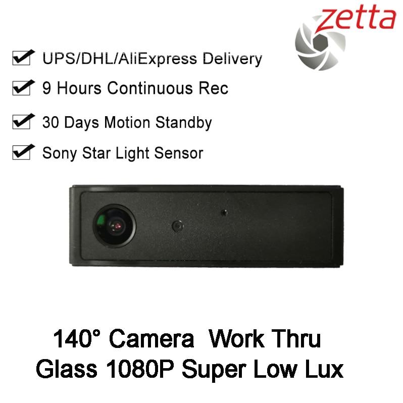 مسجل فيديو Dvr للسيارة ، بطارية بعدسة 9 ساعات ، زجاج ، 1080p HD ، Super Low Lux ، كاميرا صغيرة Dvr TF 2MP