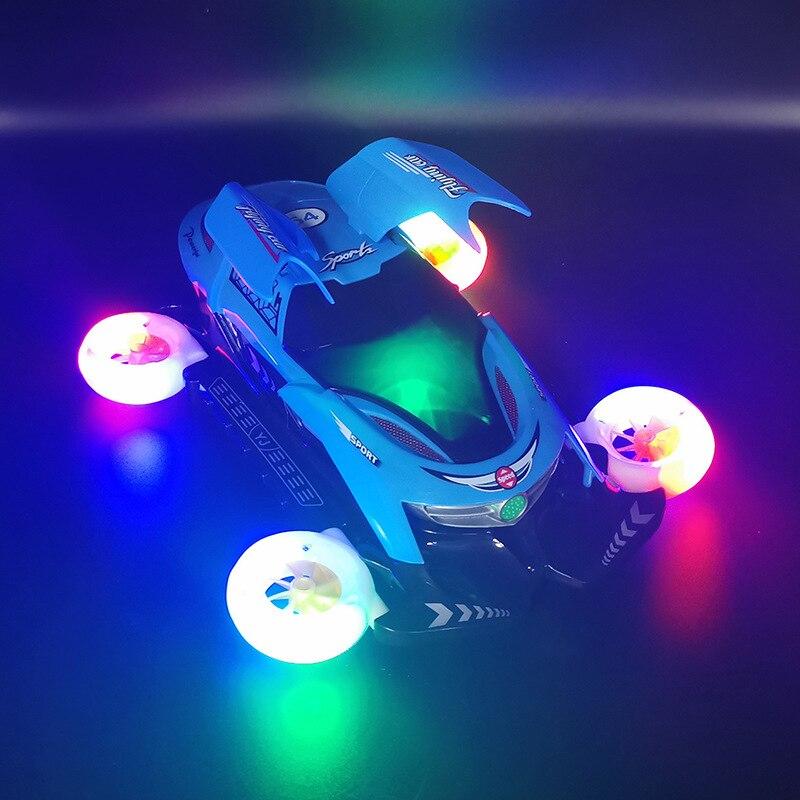 Электрический вращающийся автомобиль, музыкальные светящиеся игрушки для детей, универсальный трюковый автомобиль, музыкальные игрушки д...